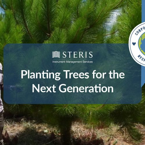 STERIS IMS planting trees for the next generation